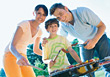 Family Barbeque stock photography