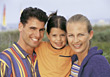 Family Close-Up stock image