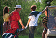 Golf Family Golfing stock photography