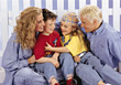 Family in Jeans stock photo