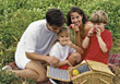 People Eating  Family Picnic stock photo