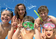 Smiling Family Vacation stock photography