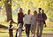 Family Walking in the Park stock photography