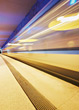 Fast Moving Subway Train - Blur stock photography