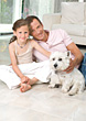 Father and Daughter with Dog