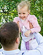 Father And Daughter Having Fun In The Park stock photography