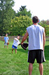 Father Playing Baseball with Sons