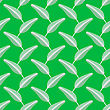 Feather Pen Seamless Pattern On Green Background
