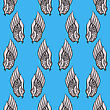 Feather Wings Seamless Pattern On Blue Background