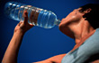 Exercise Female Athlete Drinking Water Bottle stock image
