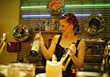 Female Bartender stock photo