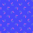 Female Male Symbols Seamless Pattern On Blue stock illustration