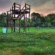 Field Archery Range At A Park In Hdr stock image