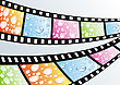 Film Strip With Water Drops stock vector