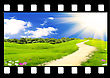 Filmstrip With The Image Of The Beautiful Nature