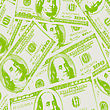 Financial Concept Of Earnings, American Dollars, Background. Vector Illustration