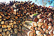 Stockpile Firewood Combined In A Woodpile stock photography