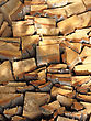 Firewood Combined In A Woodpile Stack