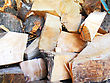 Stockpile Firewood Combined In A Woodpile Stack stock image
