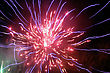 Fireworks Light Up The Sky stock photography