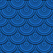 Fish Scale Seamless Pattern With Blue Cirles stock illustration