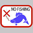 Fishing Prohibited Sign Isolated On Grey Background