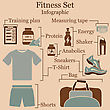 Fitness Set Infographics. EPS 10 Vector Illustration Without Transparency