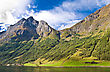 Fjords In Norway And Scandinavian Nature: Mountains, Trees, Rivers