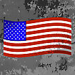 Flag Of USA On Grunge Grey Texture