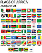 Flags Of Africa- Complete Set Of Flags In Original Colors