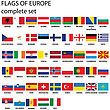 Flags Of Europe, Complete Set stock vector