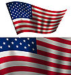 Flags USA Waving Wind Red White Blue Stars And Stripes For Independence Day 4th Of July President Day Washington Day US Labor Day Patriotic Symbolic Decoration For Holiday Or Celebration Backgrounds C