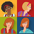 Flat Design. Beauty Salon Spa.Flat People Avatar Beauty Spa Employees stock illustration