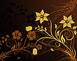 Floral Background For Design Use. Vector Illustration.