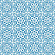 Floral Design Seamless Blue stock illustration