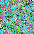 Floral Design Seamless, Colored Sunmmer stock image