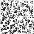 Floral Seamless Background For Yours Design Use. For Easy Making Seamless Pattern Just Drag One Of Groups Into Swatches Bar, And Use It For Filling Any Contours