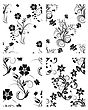 Floral Seamless Backgrounds Set