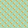 Floral Seamless Pattern In Retro Style stock illustration