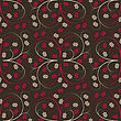 Floral Seamless Vector Pattern stock illustration