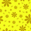 Floral Wallpaper With Set Of Different Flowers. Could Be Used As Seamless Wallpaper, Textile, Wrapping Paper Or Background