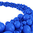 Flow Of Many Blue Spheres stock image