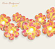 Flower Vector Background stock vector