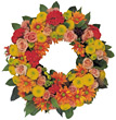 Flower Wreath stock photography