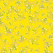 Flowers Seamless Pattern Isolated On Yellow Background