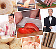 Food Preparation Themed Collage stock photography