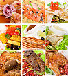 Food Set Of Different Tasty Dishes stock photo