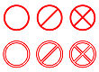 Forbidden Signs Collection. Vector EPS 8 stock illustration