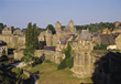 Fougeres, Bretagne stock photography