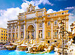 Geyser Fountain Di Trevi - Most Famous Rome's Fountains In The World. Italy stock photography